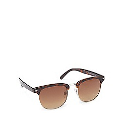 The Collection - Brown tortoise shell round sunglasses