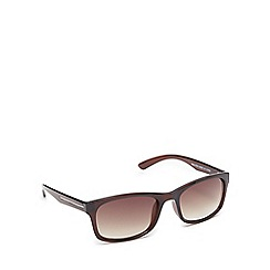 The Collection - Brown tinted rectangle sunglasses