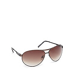 Red Herring - Brown tinted aviator sunglasses