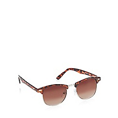 Red Herring - Brown tortoise shell round sunglasses