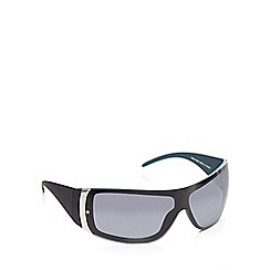 Red Herring - Black rimless wrap visor sunglasses