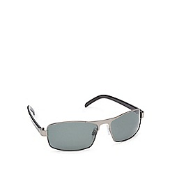 Mantaray - Green polarised tinted D-frame sunglasses