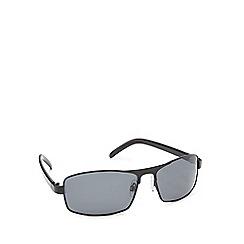 Mantaray - Black polarised D-frame sunglasses