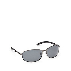 Mantaray - Black rectangle polarised sunglasses