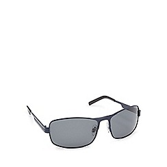 Mantaray - Black polarised tinted D-frame sunglasses