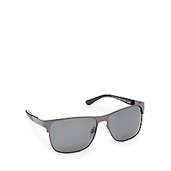 Mantaray - Black polarised D-frame sunglasses