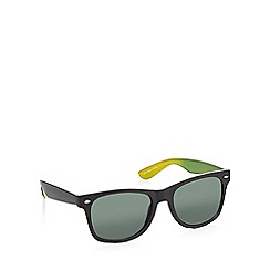 Red Herring - Green ombre-effect D-frame sunglasses