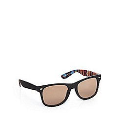 Red Herring - Black Aztec print D-frame sunglasses