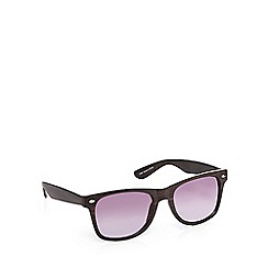 Red Herring - Brown wood print D-frame sunglasses