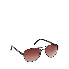 Red Herring - Brown aviator sunglasses