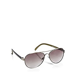 Red Herring - Green aviator sunglasses