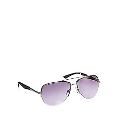 Red Herring - Grey semi rimless aviator sunglasses