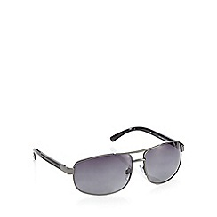 Mantaray - Black polarised rectangle sunglasses