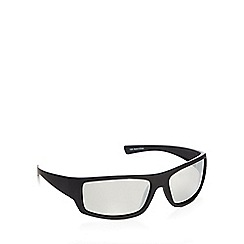 Mantaray - Black polarised wrap square sunglasses