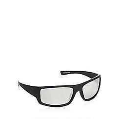 Mantaray - Black polarised wrap square sunglasses