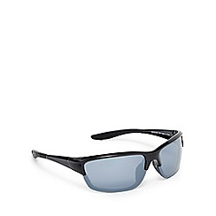 Mantaray - Grey tinted wrap-around semi rimless sunglasses