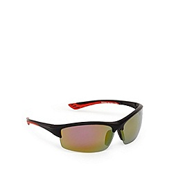 Mantaray - Red polarised wrap-around semi rimless sunglasses
