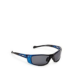 Mantaray - Blue polarised ombre-effect wrap-around sunglasses