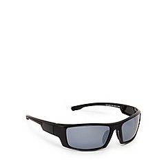 Mantaray - Black polarised wrap-around sunglasses