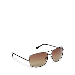 Mantaray - Brown polarised tinted aviator sunglasses