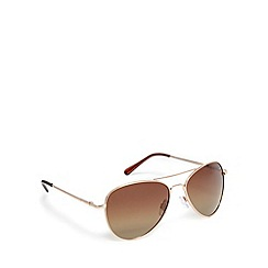 Mantaray - Gold polarised aviator sunglasses