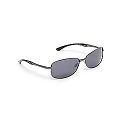 Mantaray - Grey polarised rectangle sunglasses