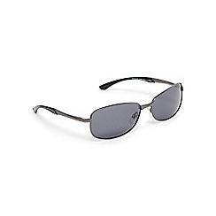 Mantaray - Grey polarised rectangle sunglasses