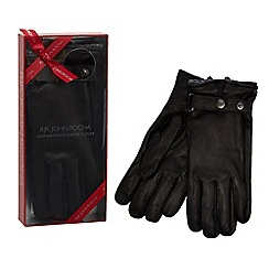 RJR.John Rocha - Black leather touch screen gloves in a gift box
