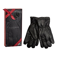 RJR.John Rocha - Black leather gloves in a gift box