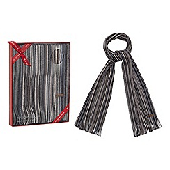 RJR.John Rocha - Grey pure Merino wool twist knit scarf in a red gift box
