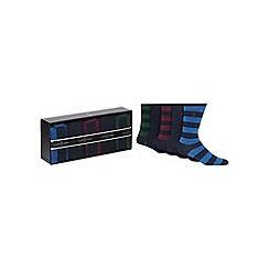 J by Jasper Conran - Set of five multi-coloured socks gift box
