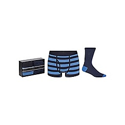 J by Jasper Conran - Navy socks and trunks gift box