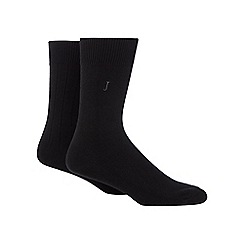 J by Jasper Conran - Pack of two black socks in a gift box