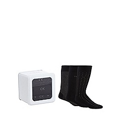 Calvin Klein - Set of three black socks in a gift box