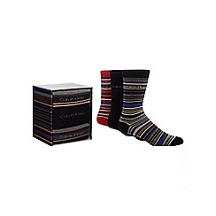 Calvin Klein - Pack of three multi-coloured cotton blend socks