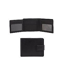 Jeff Banks - Black leather foldout pass wallet