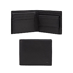 Jeff Banks - Black grained leather embossed logo wallet