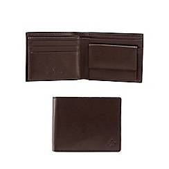 Jeff Banks - Brown leather logo wallet
