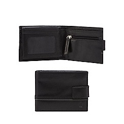 Jeff Banks - Black leather embossed logo wallet