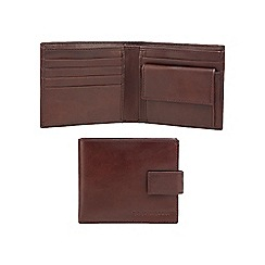 RJR.John Rocha - Brown leather embossed logo wallet