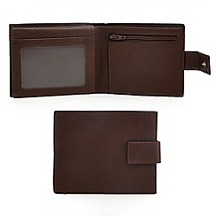 The Collection - Brown leather data protection wallet