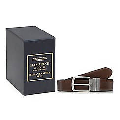 Hammond & Co. by Patrick Grant - Brown leather reversible belt in a gift box
