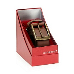RJR.John Rocha - Brown leather textured belt in a gift box