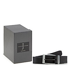 J by Jasper Conran - Black leather reversible belt in a gift box