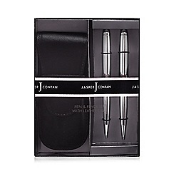 J by Jasper Conran - Pen and pencil set with a leather case