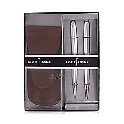 J by Jasper Conran - Pen and pencil set in a leather case