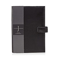 J by Jasper Conran - Black leather A5 notebook