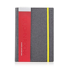 RJR.John Rocha - Dark grey leather A5 diary