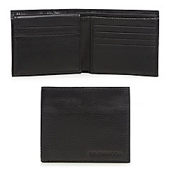 RJR.John Rocha - Black leather debossed logo wallet in a gift box