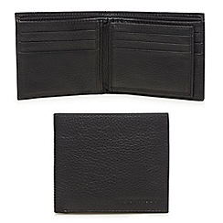 RJR.John Rocha - Black leather pebbled wallet in a gift box